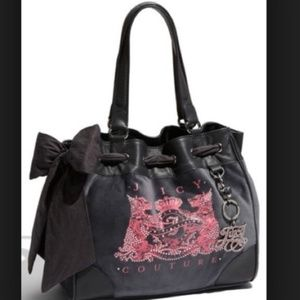 Juicy Couture Scottie Hobo Bag grey pink